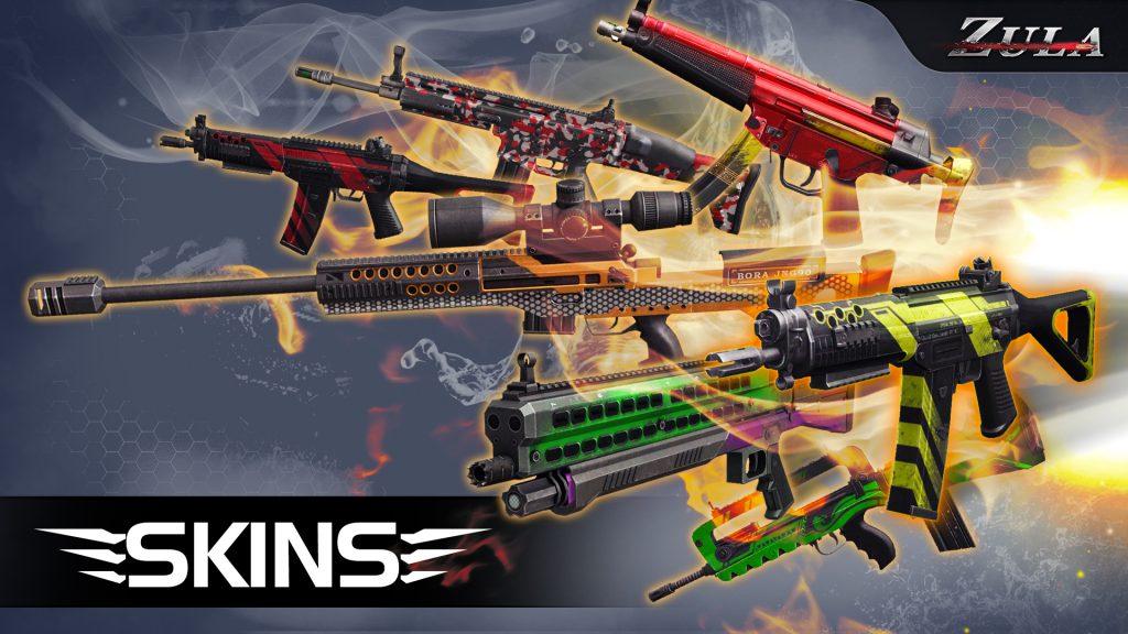 اسلحه های مختلف در بازی زولا