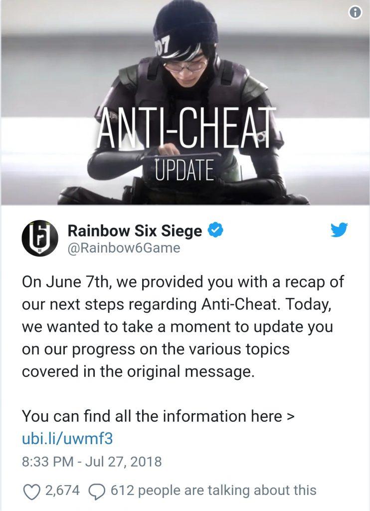 Ubisoft حدود ۱۳۰۰ نفر از متقلبین بازی Rainbow Six Siege را در یک هفته محروم کرد - سرگرمی