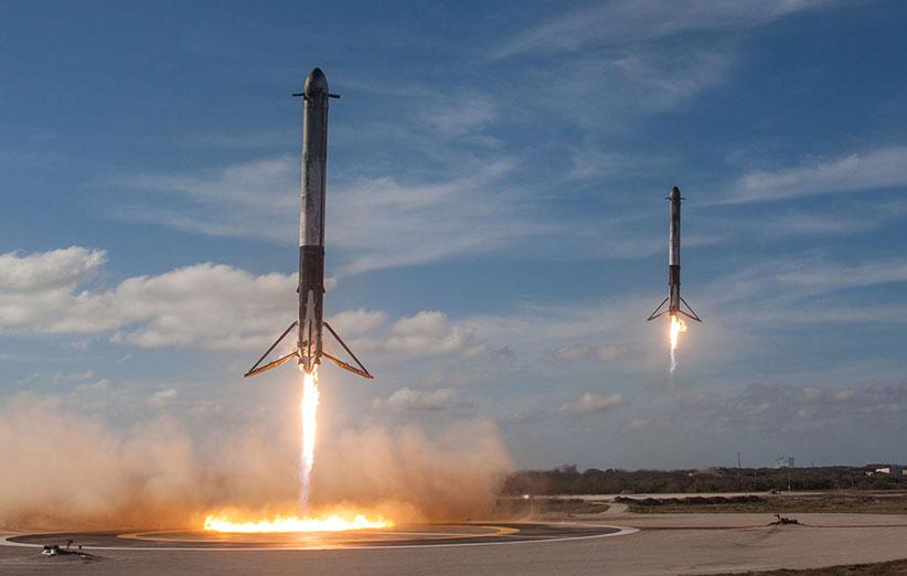 فرود آخرین پرتاب فالکون 9 با مشکل مواجه شده است