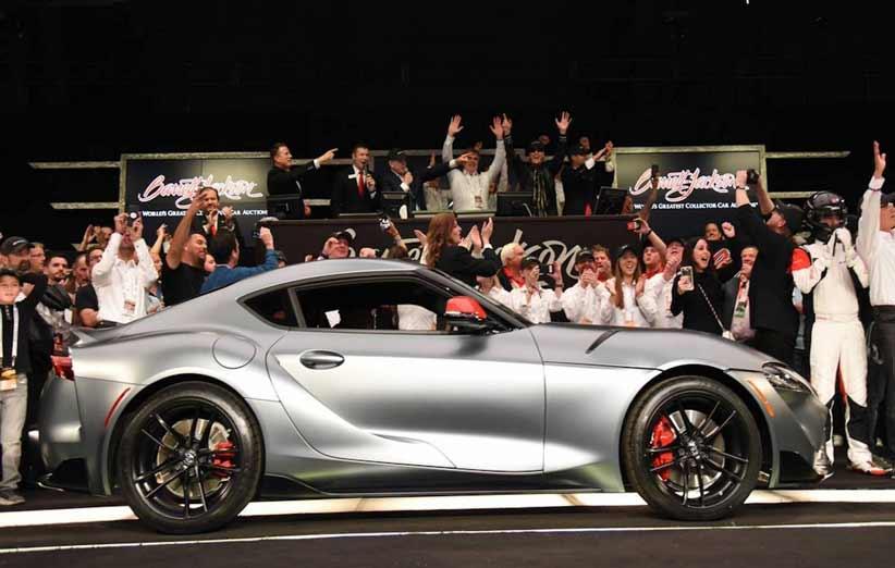 اولین مدل تویوتا سوپرا ۲۰۲۰ در یک حراجی به قیمت ۲ میلیون فروخته شد