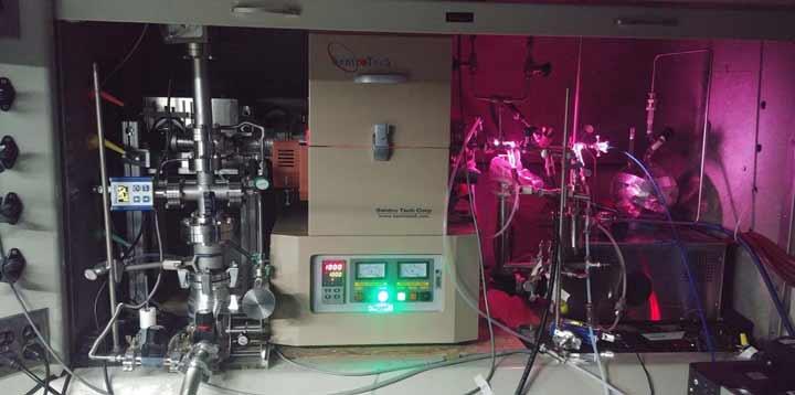 کورهای که تیم آزمایشگاه پیشرانش جت ناسا (JPL) برای بازسازی جو سیارات فراخورشیدی؛ مخلوط گازها را در آن حرارت داد