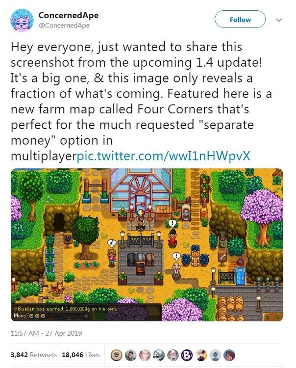 برای اولین باز جزییاتی از نسخهی 1.4 بازی Stardew Valley منتشر شد